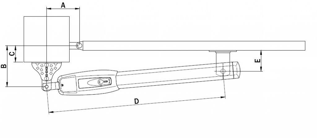 Wymiary montażowe BE20