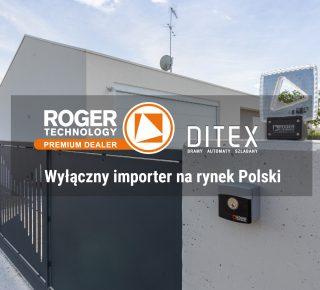 Ditex Wyłącznym Importerem Roger Technology w Polsce!